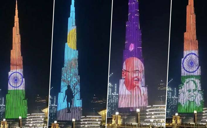 Burj Khalifa lit up as tribute to Mahatma Gandhi