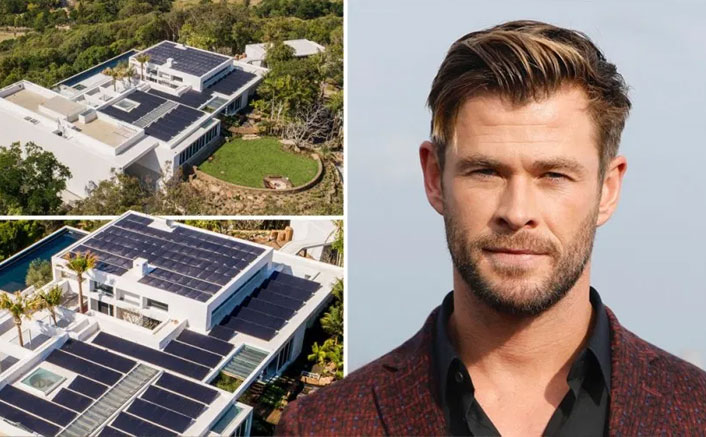 Chris Hemsworth installs solar panels in his mansion