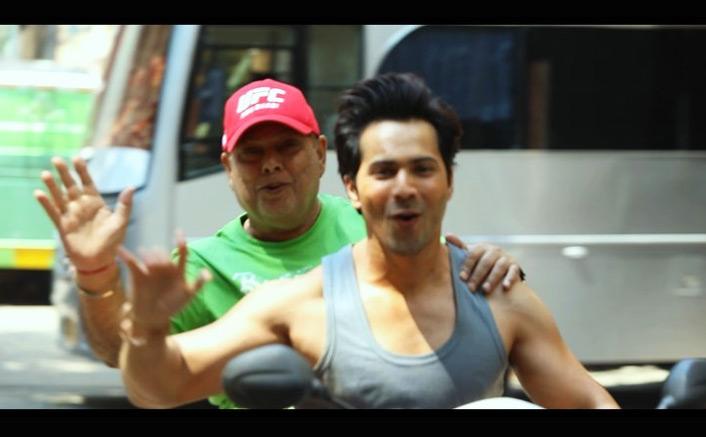 Coolie No. 1: Varun Dhawan Takes Hi Daddy & Director David Dhawan On A Scooter Ride
