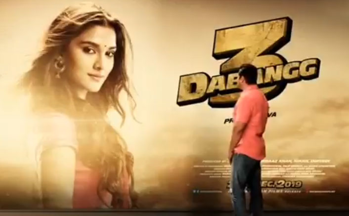 Dabangg 3 New Poster Out Feat Saiee Manjrekar: Chulbul Pandey Can Make Anyone Dukhi For His 'Khushi'