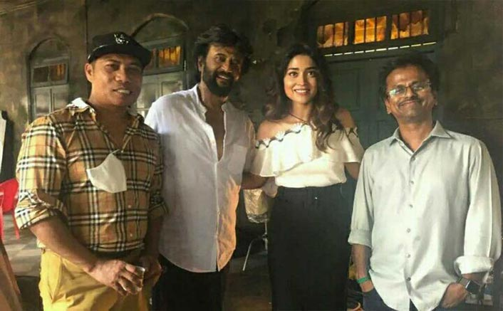 Darbar: Shriya Saran Pays A Visit To Rajinikanth On Sets Of His Film In Mumbai