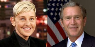 Ellen DeGeneres defends friendship with George W. Bush