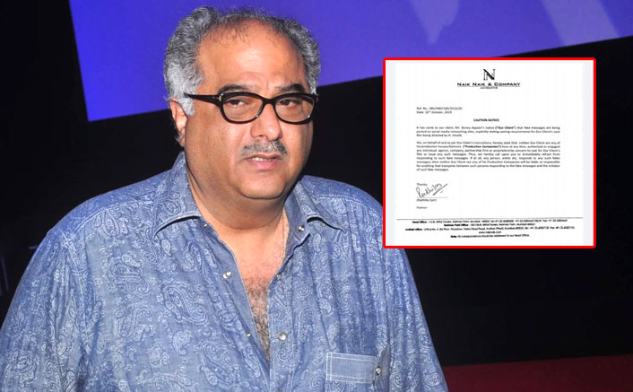 Boney Kapoor Issues An Official Warning Letter Regarding Fake Casting Calls On His Behalf