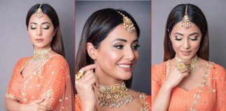 Hina Khan Teaches You How To Rock The Orange Lehenga This Wedding Season