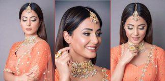 Hina Khan Teaches You How To Rock The Orange Lehenga This Wedding Season