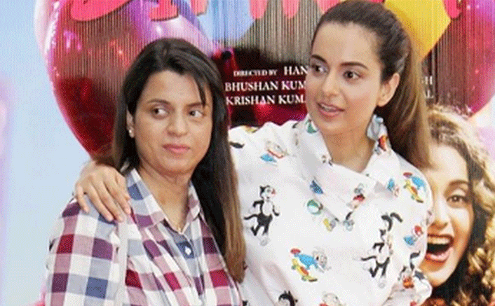 Kangana Ranaut Feels Sister Rangoli Should Narrate A Book OnHer Life!