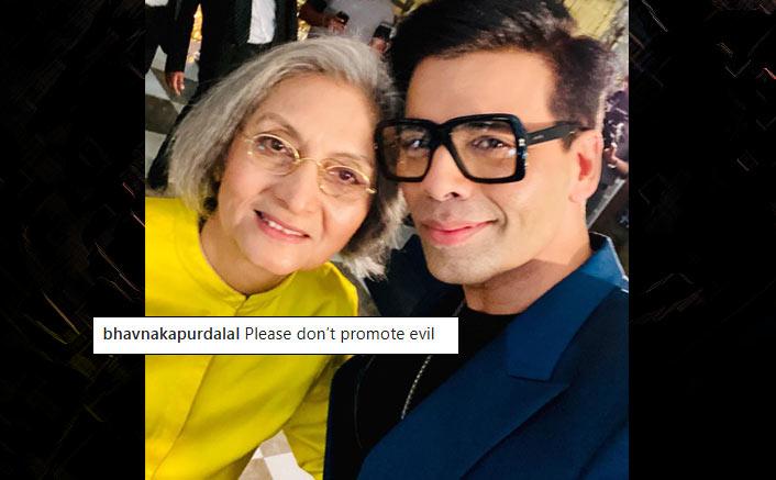 Karan Johar's Selfie With Ma Anand Sheela Praised As Well As Slammed!