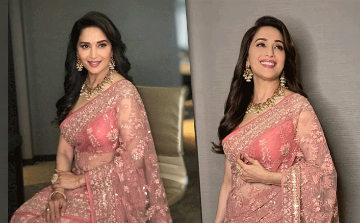 Madhuri Dixit's Pink Saree Is All You Need To Define Elegance This Wedding Season!