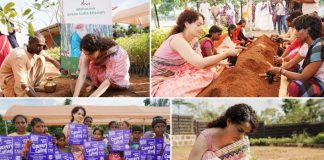 Pictures: To do her bit for the environment, Kangana Ranaut plants trees and saplings