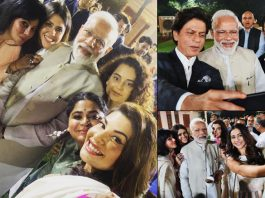 PM Narendra Modi Meets Bollywood; Poses For Selfie With Kangana Ranaut, Sonam Kapoor & Others