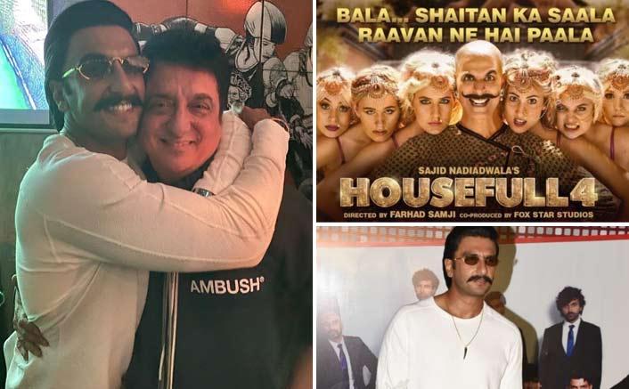 Ranveer Singh and Sajid Nadiadwala take up Akshay Kumar's Bala Challenge in 83' wrap up party