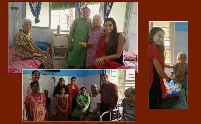 Samikssha Batnagar's Diwali at old age home