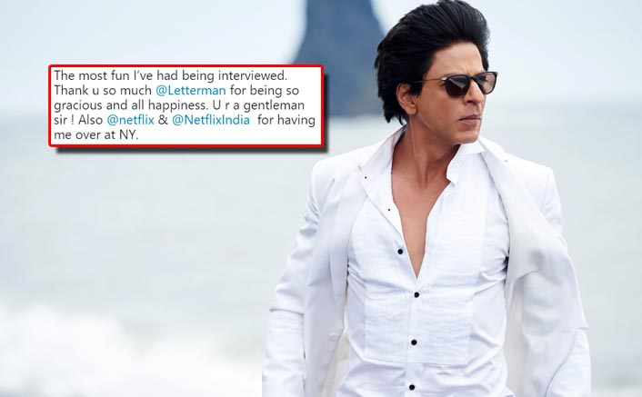 Shah Rukh Khan REACTS On The Promo Of David Letterman's Talk Show Featuring Him