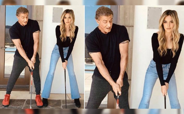 Sylvester Stallone & His Daughter Sistene Twin In Black In This UNMISSABLE Pic