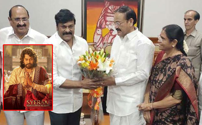 Vice President watches 'Sye Raa...' with Chiranjeevi
