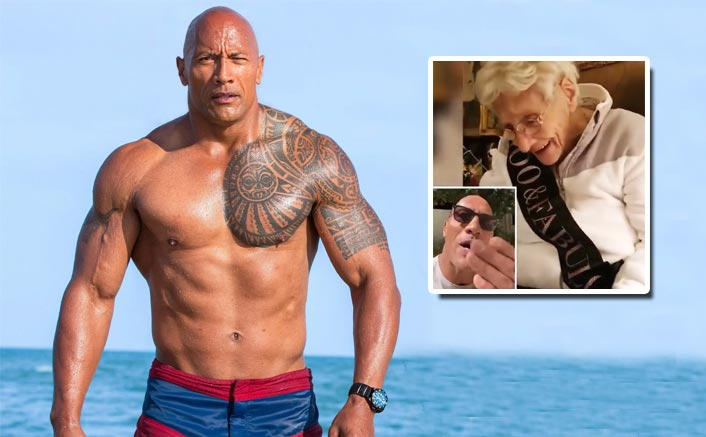 WATCH: Dwayne Johnson Surprises His 100 Year Old Fan On A Birthday & It's Hard To Miss!