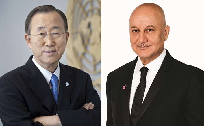 When Ban Ki-moon asked Anupam Kher for signed autobiography