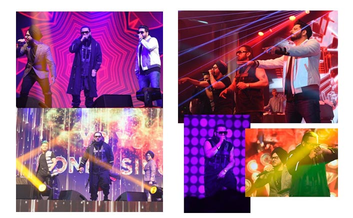 Yo Yo Honey Singh performs at a Diwali concert in Bangkok