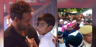 Ajay Devgn Loses His Cool As Son Yug Gets Mobbed At Ajmer Sharif Dargah! WATCH Video