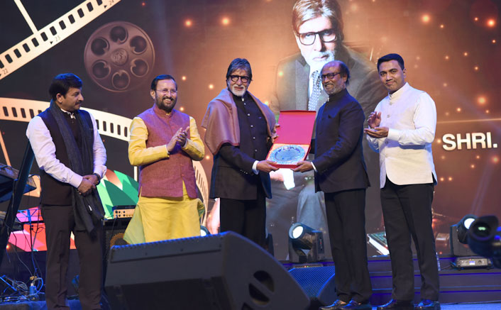 IFFI 2019: Rajinikanth Calls Amitabh Bachchan His Inspiration; Both Give Awards To Each Other