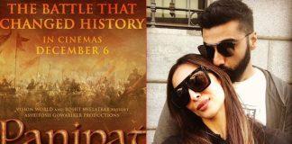 Arjun posts new 'Panipat' poster and Malaika can't keep calm