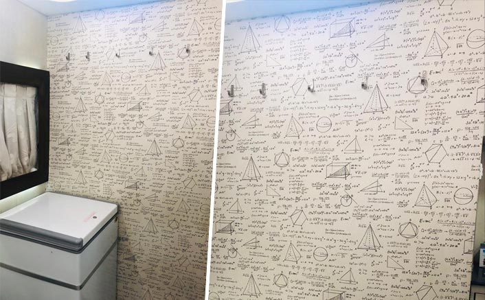 Did you know? Hrithik Roshan has a wall in his vanity van full of math equations!