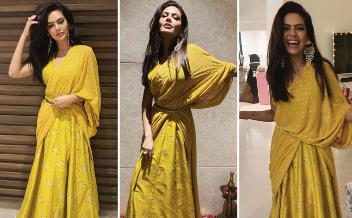 Esha Gupta's Yellow Traditional Wear Is the Perfect Pick For A Day Wedding