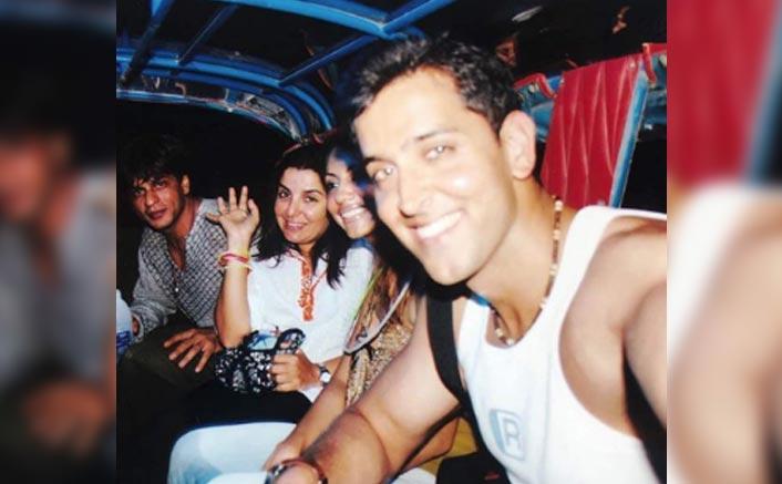 #FlashbackFriday THIS Picture Of Shah Rukh Khan With Hrithik Roshan, Gauri Khan & Farah Khan Is Pure Nostalgia