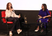 French Actress Isabelle Huppert was awarded with Lifetime Achievement Award at the 50th edition of International Film Festival of India (IFFI) Goa