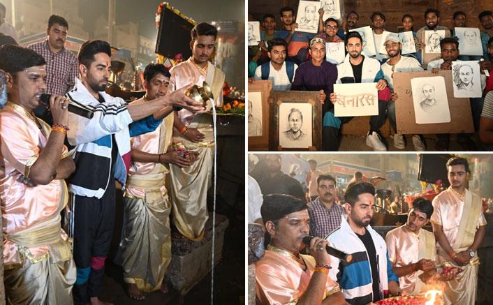 Ganga Aarti, Banarasi Paan, Boat Ride - 'Bala' Ayushmann Khurrana Has A Gala Time in Varanasi!!
