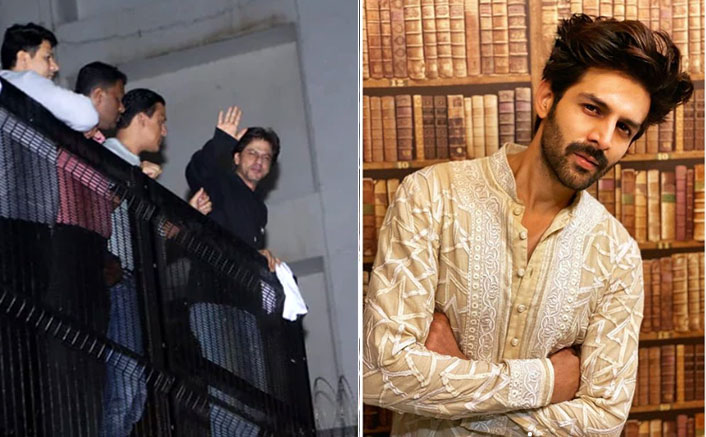 Kartik Aaryan Stood Outside Shah Rukh Khan's Mannat On His First Day In Mumbai Along With Hundreds Of Fans