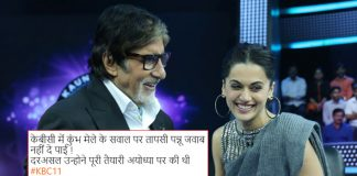 KBC 11: Post Sonakshi Sinha's Ramayan Row, Now Taapsee Pannu Fails To Answer Question Related To Kumbh Mela!