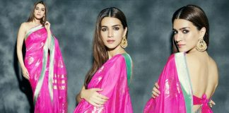 Kriti Sanon's Pink Banarasi Sari Can Be Your Next Sangeet Apparel!