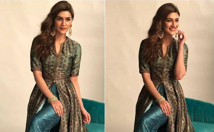 Kriti Sanon's Silk Lehenga Can Be Your Next Sangeet Apparel