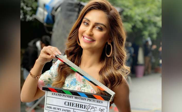 Krystle D'Souza shoots for debut film 'Chehre' in Delhi
