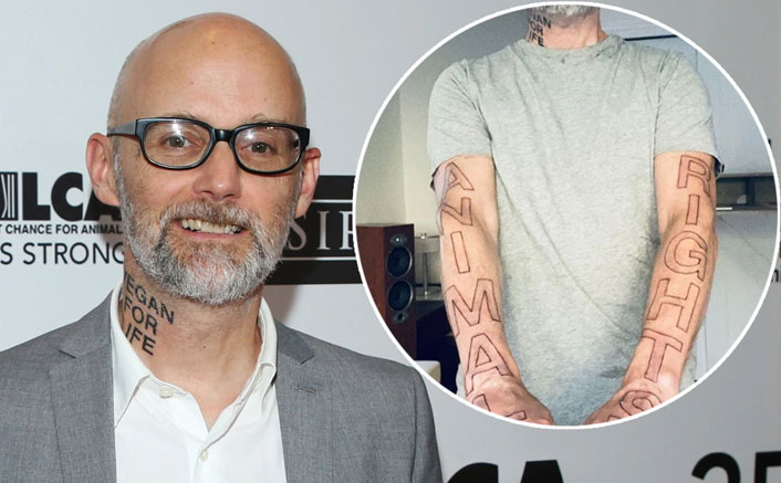 Moby Celebrates His 32nd Vegan Anniversary By Getting A New Tattoo That Says 'Animal Rights'
