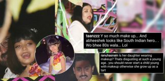 Netizens Troll Aishwarya Rai Bachchan & Abhishek Bachchan For Letting Their Daughter Aaradhya Put Makeup On Her Birthday