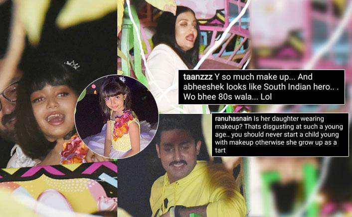 Netizens Troll Aishwarya Rai Bachchan & Abhishek Bachchan For Letting Their Daughter Aaradhya Put Makeup On Her Birthday