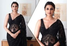 Parineeti Chopra Teaches You How To Sizzle In A Sheer Black Saree This Wedding Season