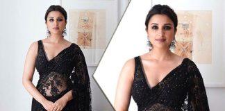 Parineeti Chopra Teaches You How To Sizzle In A Sheer Black Saree This Wedding Season