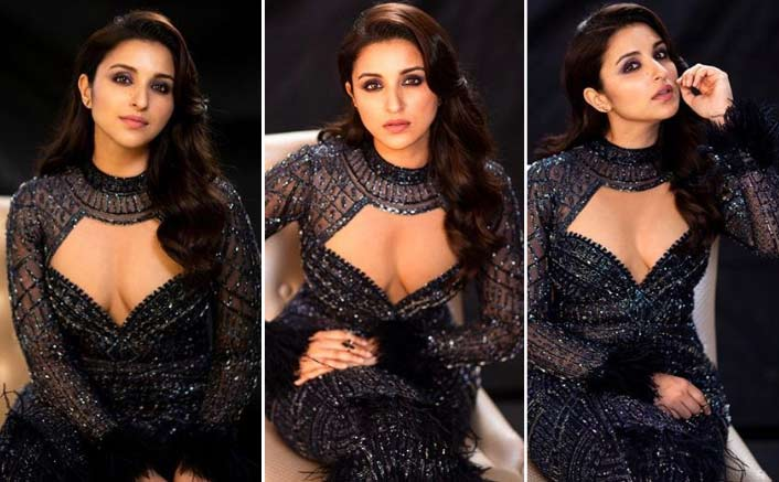 Parineeti Chopra's Black Dress With A Plunging Neckline Can Be The Next Best Outfit For Your Bff's Sangeet