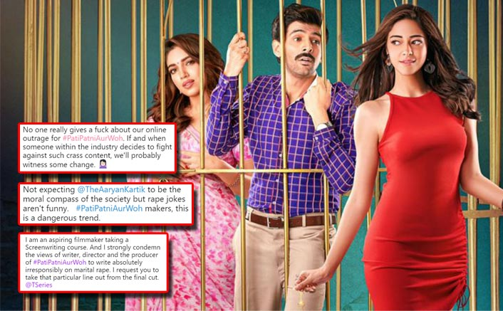 Pati Patni Aur Woh Trailer: Kartik Aaryan Receives Flak From Twitterati For The 'Balatkar' Dialogue