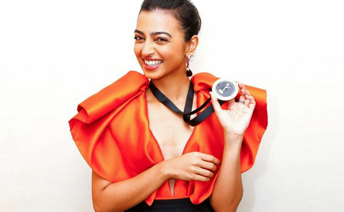 Radhika Apte looks alluring as she poses with her nomination medal of International Emmy Awards!