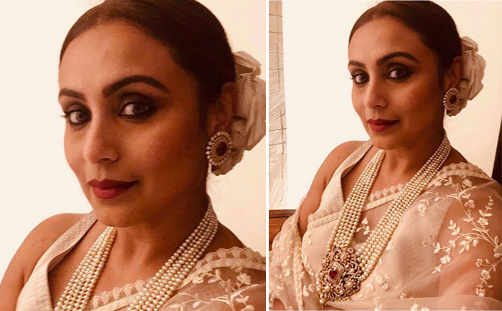 Rani Mukerji's Beige Sabyasachi Sari Is The Wedding Outfit You Need Right Now