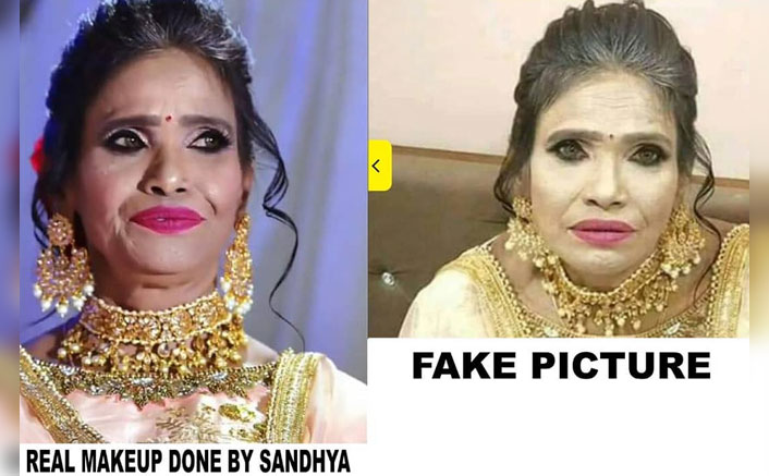 Ranu Mondal's Makeup Artist Claims The Viral Photo Of The Singer Was Fake, Posts Her Original Makeup Pictures