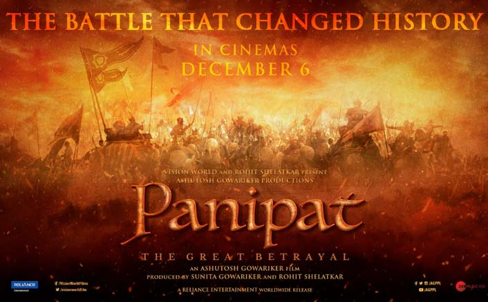 Arjun Kapoor, Sanjay Dutt & Kriti Sanon Starrer Panipat Poster Unveiled With The Release Date