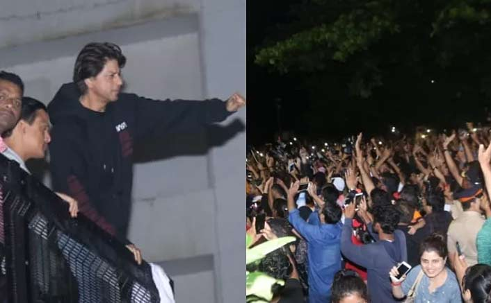 Shah Rukh Khan celebrates His 54th Birthday With Fans Outside Mannat