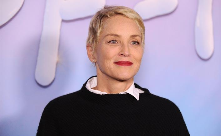 Sharon Stone recreates leg-crossing scene in 'Basic Instinct'