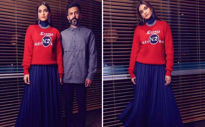 Sonam Kapoor's Red Bhaane Pullover Is A Perfect Cozy Outfit For A Date Night
