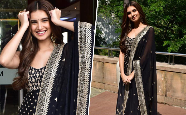 Tara Sutaria's Royal Black Sabyasachi Sharara Is Just The Perfect Attire For A Cocktail Night